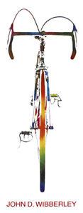 "John D Wibberley Cycle Art - Original ""Bike"" Print 1972 Lithograph 12"" x 32"""