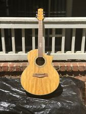 Ibanez exotic wood Flamed Maple acoustic /Electric guitar- EW20QMENT1201