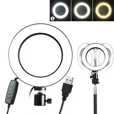 """6"""" USB LED Ring Light 5500K Dimmable Lighting Kit for Makeup Phone Camera Selfie"""