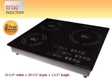 Cooktop True Induction TI-3B * Triple Burner Cook top * Counter Inset Model TI3B