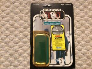 Vintage Star Wars Bespin Guard ROTJ 77 back Cardback w/ Buuble and Coin Offer