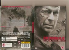 DIE HARD 4.0 ULTIMATE ACTION EDITION DVD STEELBOOK VERSION BRUCE WILLIS STEEL