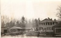 Vintage  Photo, Boat House/Marina on Severn River, Coldwater Ontario (Muskoka's)