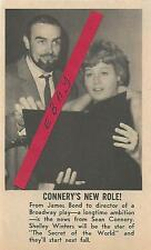 1966 SEAN CONNERY MAGAZINE AD ARTICLE CLIPPING NOW DIRECTOR OF BROADWAY PLAY