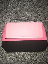 NWT Victorias Secret Insulated Tote Bag Pink Black Zipper Top Beach Cooler Tote