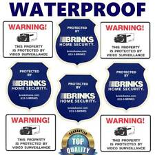 STICKERS FOR DOORS / WINDOWS HOME SECURITY ALARM CAMERA+BRINKS WARNING DECAL LOT