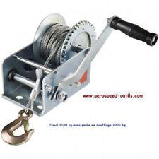 Treuil à manivelle force de traction 1100 kg avec câble de 10 mètres