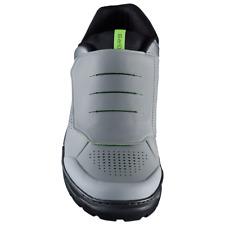 New Shimano GR9 Men's Enduro Trail Off Road Bike Shoes - Grey w/ Green - Size 43