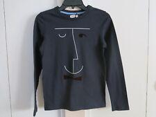 Jean Bourget dark blue cotton boys long sleeve embellished tshirt top NWT 12y