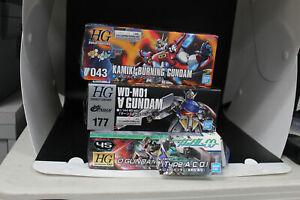 Lot of 3 - USED/DAMAGED KITS - Bandai HG 1/144 Gundam Model Kits Kamiki Burning