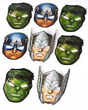Birthday Party Supplies Favors Marvel Avengers Hats Masks 8 pcs Kids Toys Hulk