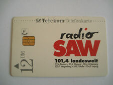 PHONECARD TELECARTE RADIO SAW 101,4 LANDESWEIT TELEKOM ALLEMAGNE GERMANY