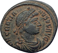 GRATIAN 378AD Constantinople Authentic Genuine Ancient Roman Coin Roma  i73693