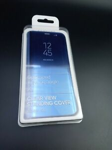 Samsung Original Clear View Standing Phone Cover for Samsung Galaxy S8  NEW blue