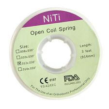 1roll Dental Orthodontic Niti Open Coil Spring Dia.012 inch 914mm 4 sizes choice