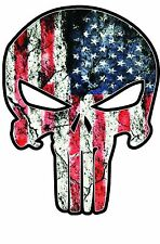 American Flag Punisher Decal  6 Inches Tall