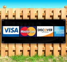 """CREDIT CARDS Advertising Vinyl Banner Flag Sign Many Sizes USA 15"""" 18"""" 36"""" 48"""""""