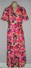 Linen Blend Floral Midi Shirt Dresses for Women