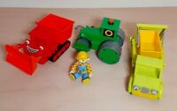 4X Bob the Builder toys. Skip, Roley, Muck and Bob. TV toys.