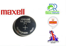 NEW ML2032 ML 2032 Rechargeable CR2032 CR 3V Coin Button Cell Battery Batteries