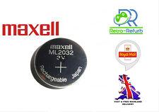 Maxell ML2032 3V Rechargeable Lithium Battery - Sega Dreamcast - Logitech K750