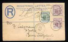 MAURITIUS - 1899 - Raccom. del 28.01.1899 - F.to Catania