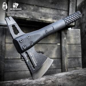 Outdoor Tactical Tomahawk Axe Hunting Camping Survival Hatchet Fiber Handle Ax