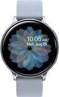Samsung Watch Active2 Silicon Strap + Aluminum Bezel Bluetooth - Cloud Silver