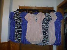 Size Plus Short Sleeve Blouses APT.9 3X,1X,Pearl Pink,Ultramarine Blue ,Polyeste
