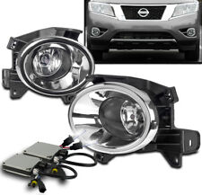 NEW DRIVING FOG LIGHTS LAMP KIT CHROME W/6K HID+SWITCH FOR 2013-2016 PATHFINDER