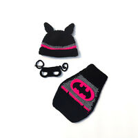 Girl Newborn Baby Bat Crochet Knit Costume Infant Photo Photography Prop Outfit