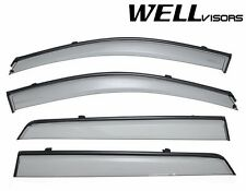 WellVisors SLEEK HD Side Window Visors W/ Black Trim For 07-12 Hyundai Santa Fe