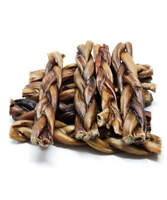 "6"" Inch BRAIDED BULLY STICKS odor free PROCESSED & PACKAGED IN USA odorless"