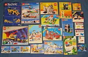 Lot Vintage Lego SYSTEM LEGOLAND Building Instruction Manual Book 4552 8062 6074