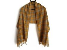 Auth MargaretHowell Yellow Black Gray Wool Scarf