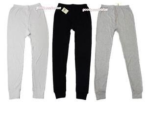 Mens Cotton Thermal Long Johns / Pants  Underwear Black White Grey