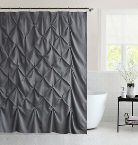 "Hudson Pintuck Fabric Shower Curtain 72""x72"""