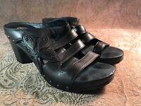 Dansko Women's Size 39 US 8.5-9 Nigella Sandals Black Graphite Flower