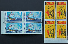 Timbre / Stamp CANADA - Yvert et Tellier n°403 x4, et 404 x4 n** (cyn7)