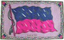 Tobacco Promotional Felt Large Purple Hayti Haiti Country Flag Felt c.1910