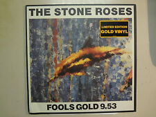 """STONE ROSES:Fools Gold 9:53-U.S.12"""" Silvertone On Gold Vinyl Limited Edition ACV"""