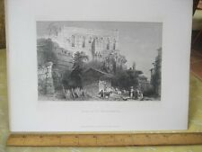 Vintage Print,PALACE OF BELISARIUS,WH.Bartlett,Turkey+Greace,Engraving