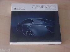 Lexus Geneva Motor Show 2005 (entre otras cosas, lf-a Europa Prem.) dossier/Press-kit, D