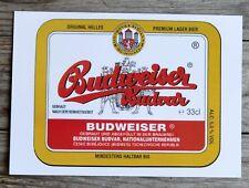 Carte postale bière Budweiser, l'originale tchèque (carte acquise à Prague)
