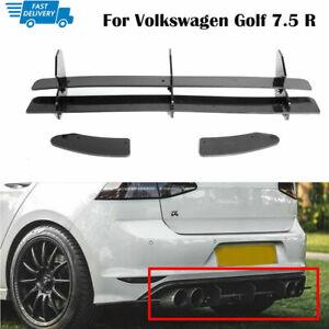 Rear Bumper Diffuser Side Splitters Spoiler For Volkswagen VW Golf 7.5 R MK7.5 R