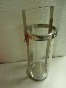 Garden Floor Metal Candle Holder Outdoor Indoor Hanging Lantern Glass 35cm H3
