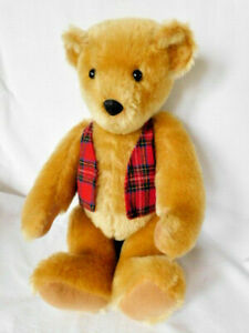 "Mohair Teddy Bear Plush, Vermont Bear, Fully Jointed Gold, 15"" EXC."