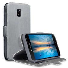 Fundas y carcasas color principal gris de piel sintética para teléfonos móviles y PDAs Samsung