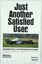 Just Another Satisfied User Mika Hakkinen McLaren Mercedes Race Car Photo Poster