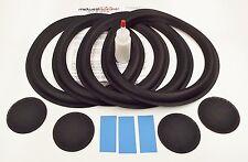 "Allison One 10"" Woofer Refoam Kit w/ Shims and Dust Caps - Speaker Foam Repair"